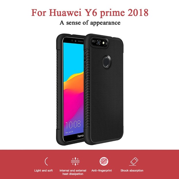 Anti-Drop Soft TPU Phone Case For Huawei Y9 Y7 Y6 Prime 2018 Mate 20 Lite Mate 20 Pro Y9 2019 Soft Back Cover Case