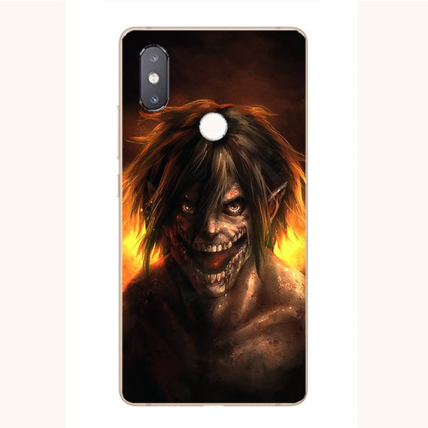 Attack On Titan Cartoon Painting Case For Xiaomi Mi A1 A2 6 8 SE Pro Lite 5X 6X 8X Redmi S2 Y2 Note 5 6 Pro Phone Printed Cover