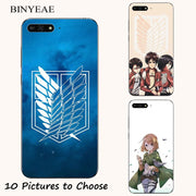 Attack On Titan Japanese Anime Manga Cartoon Painting Case For Huawei Honor 7s 8 9 10 Lite 6A 6C 7A 7C Pro Phone Printed Cover