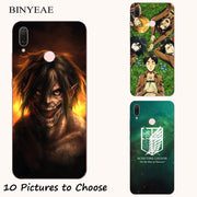Attack On Titan Japanese Anime Manga Cartoon Painting Case For Huawei P20 Lite Pro Y9 2019 Honor 8C 8X Max Phone Printed Cover