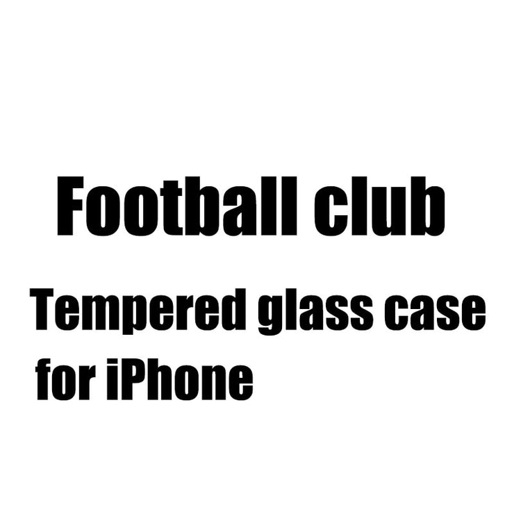 BFOLLOW Football Club Tempered Glass Case For IPhone 6 6S Plus / 7 8 Plus / X 9H Hard Back Cover Real