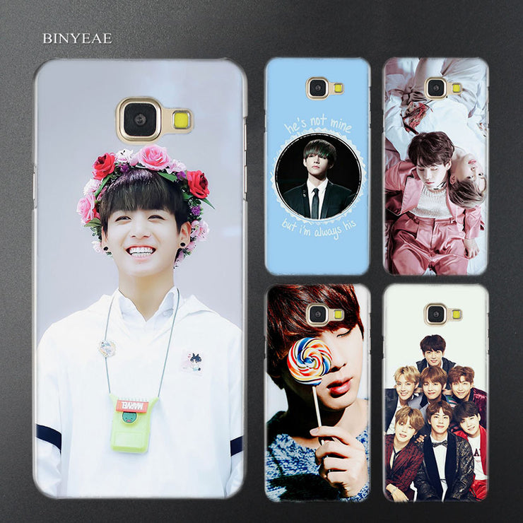 low priced e1804 ad49c BINYEAE BTS Bangtan Jim Taehyung Transparent Case Cover For Samsung A5 A3  A8 A7 2017 2018 2016