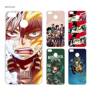 BINYEAE Boku No Hero Academia Clear Hard Case Cover Shell For Xiaomi MI A2 A1 5X 6X Redmi Note 4X 4 4A 5 Plus