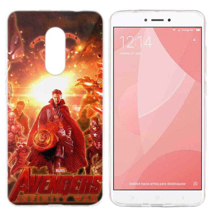 BINYEAE Case Cover For Xiaomi Redmi S2 5 NOTE 4X 4 TPU SOFT Coque Avengers  3 III Infinity War