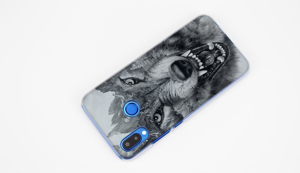 BINYEAE Classic Cool Wolf Hipster Print Transparent Hard Case Cover Coque Shell For Huawei P20 Lite 10 Lite P Smart