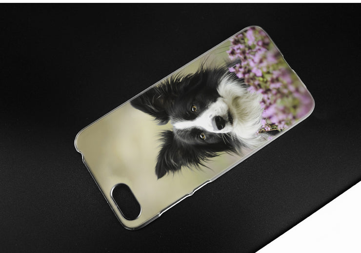 BINYEAE Collie Keeshond Dog Art Hard Case Cover For Huawei