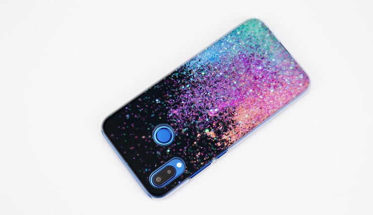 BINYEAE Glitter Sand Printing Art Transparent Hard Case Cover Coque Shell For Huawei P20 Lite 10 Lite P Smart