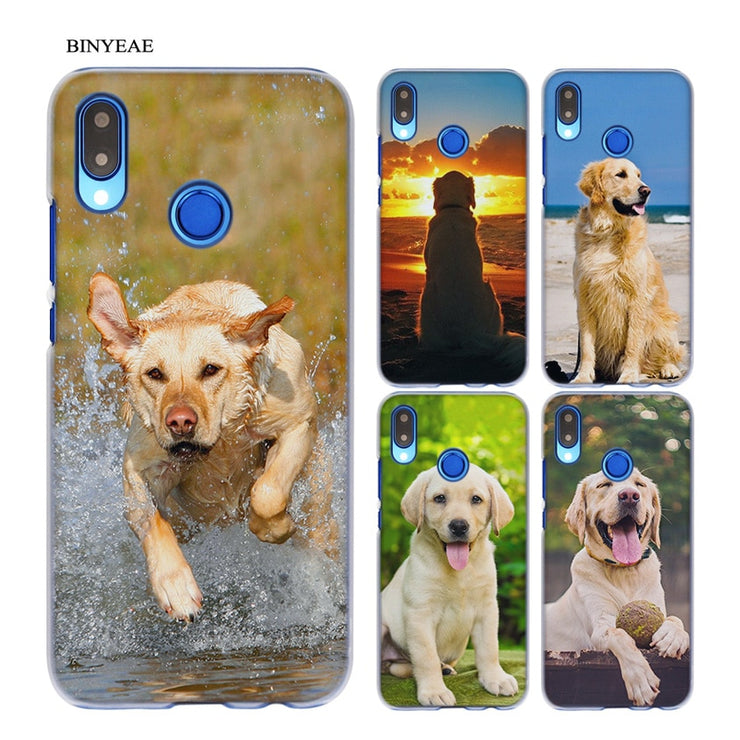 BINYEAE Labrador Retriever Dog Transparent Hard Case Cover Coque Shell For Huawei P20 Lite 10 Lite P Smart