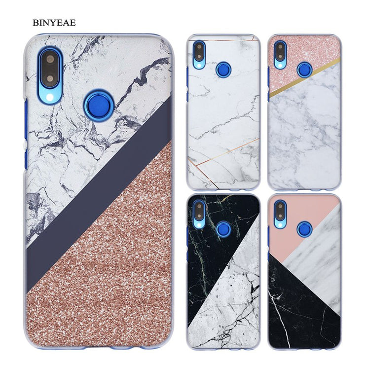 BINYEAE Marble Line Luxury Transparent Hard Case Cover Coque Shell For Huawei P20 Lite 10 Lite P Smart