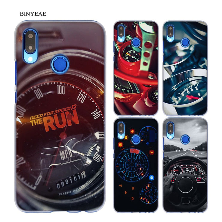 BINYEAE Sports Car Speedometer Transparent Hard Case Cover Coque Shell For Huawei P20 Lite 10 Lite P Smart
