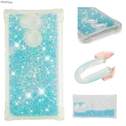 BYHeYang Glitter Stars Phone Case For Sony Xperia L2 L 2 H3311 H3321 Dynamic Liquid Quicksand Soft TPU Back Cover For Sony L2