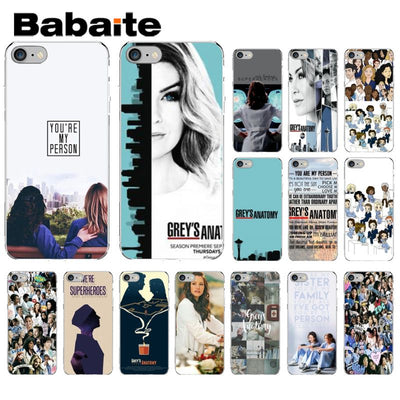 Babaite American TV Greys Anatomy Transparent Cell Phone Case For Apple IPhone 8 7 6 6S Plus X XS MAX 5 5S SE XR Mobile Cases