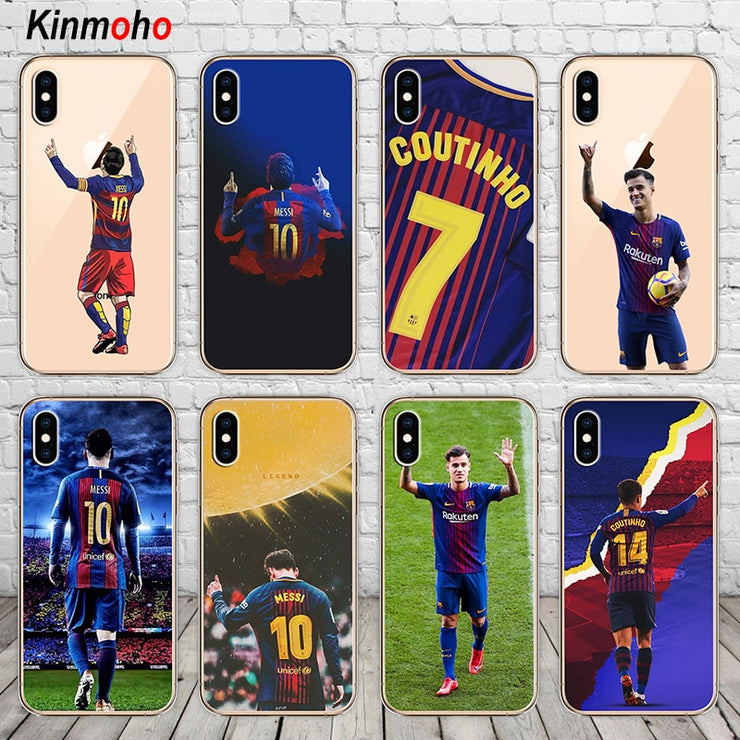 084bd7879 Barcelona Lionel Messi Philippe Coutinho Football Soft TPU Phone Case Cover  For IPhone 7 6 6S