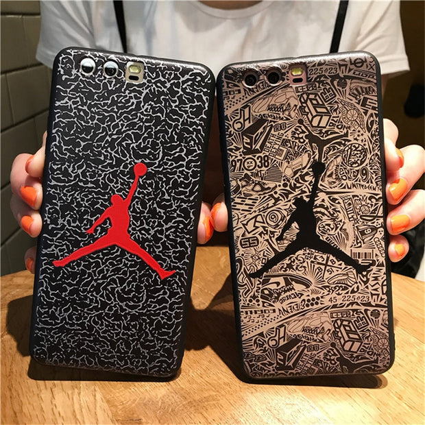 Basketball Michael Jordan Phone Case For HUAWEI P10 P10 Plus 3D Emboss Soft TPU Skin For HUAWEI P10 Plus P10 Silicone Back Case