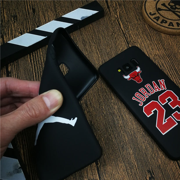 Basketball Sports Jordan Phone Cover Case For Samsung Galaxy S8 S9 Plus Note 8 9 Matte Soft Silicone Couple Coque Fundas Cases