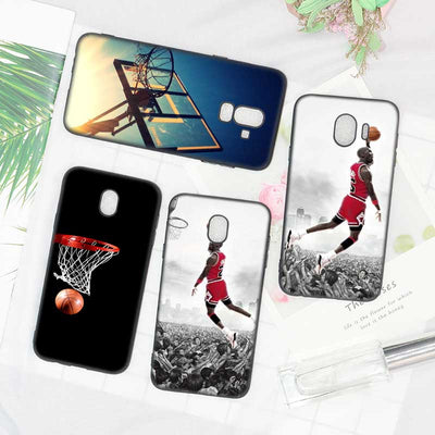 Black Soft Silicone Phone Case Dunk Basketball God For Samsung Galaxy J6 J4 J8 J7 J5 J3 Plus 2018 + Phone Case