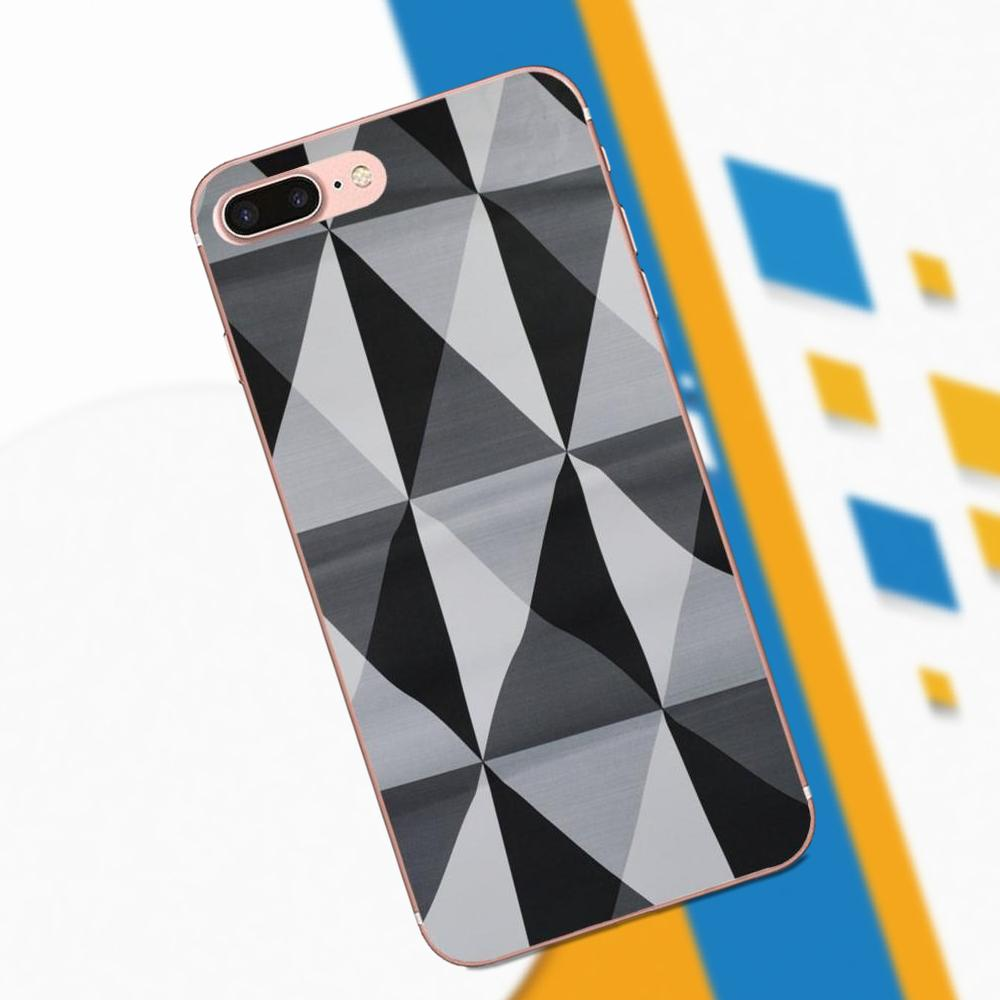 Black White Triangles Geometric Pattern For Huawei Honor 4C 5A 5C 5X 6 6C 6A 6X 7 7X 8 9 V8 V10 Y3II Y5II Y6II G8 P7 Play Lite