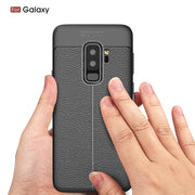 C-ku Phone Case For Samsung Galaxy S9 Plus S8 S7 Case Litchi Grain TPU Protection Business Shockproof For Galaxy Note 9 Case