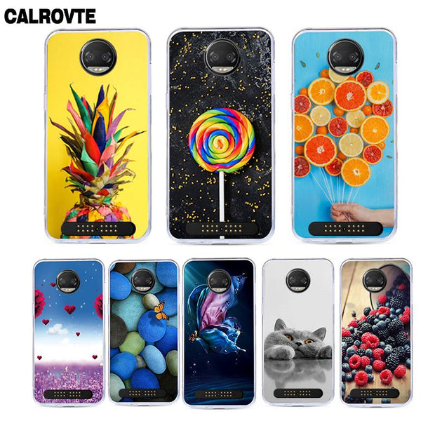 CALROVTE Phone Case For Motorola Moto Z2 Force Cute Cartoon Animal Soft Silicone Painted Cover For Moto Z2 Force Cases Shell