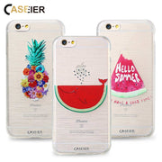 CASEIER Lovely Cartoon Case For IPhone 5 5s 6 6s 7 8 Plus Flowers Pineapple Silicone Clear Cover For Samsung S6 S7 Edge S8 Cover