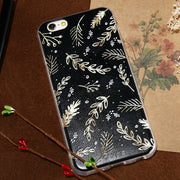 CASEIER Winter Silicon Case For IPhone 5 5s SE Luxury Snow Series Patterned Cover For IPhone X 6 6s 7 8 Plus Ultra Thin Capinhas