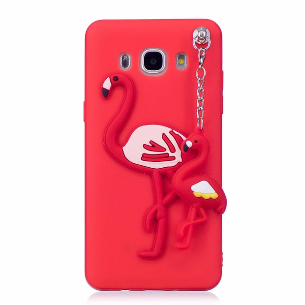 COATUNCLE Soft TPU Case For Samsung Galaxy J3 J5 J7 2016 3D Pendant Silicon Dolls Toys Cartoon Back Cover J310 J510 J710 Case