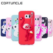 COATUNCLE Soft TPU Case SFor Samsung Galaxy S7 3D Pendant Silicon Dolls Toys Cute Cartoon Cover For Coque Samsung S7 Edge Case