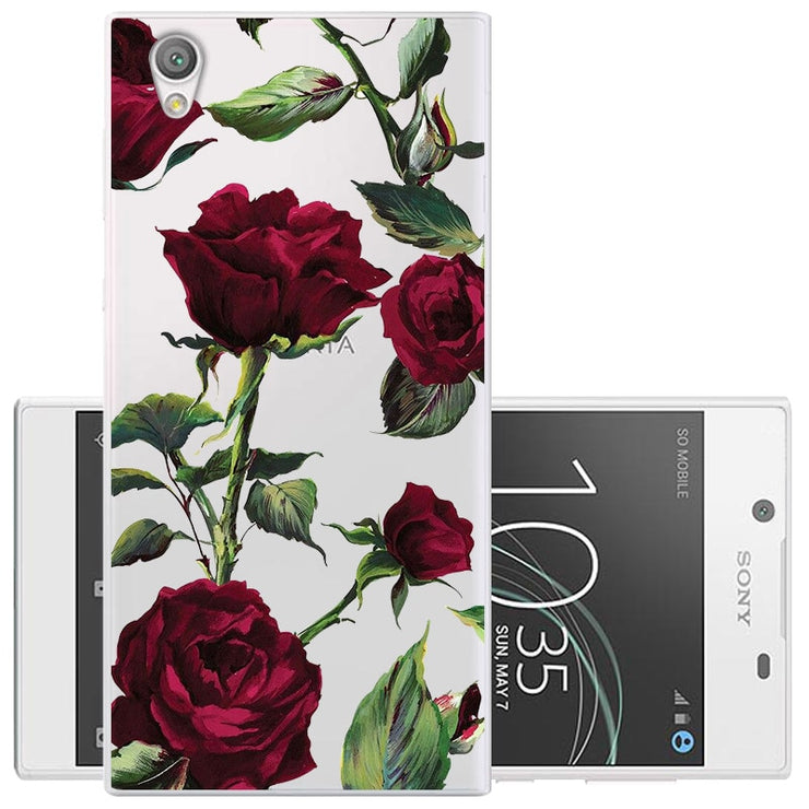 CROWNPRO FOR Sony Xperia L1 Case Silicone Soft Cover G3311 G3312 G3313  Painted TPU Back Cases FOR Fundas Sony L1 Phone Clear