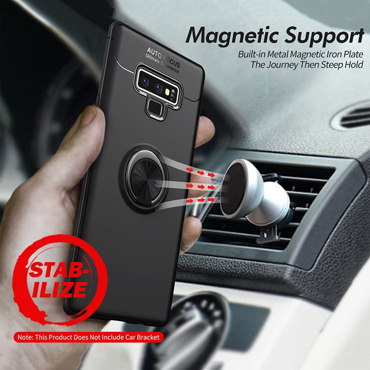 Car Stand Ring Holder Case For Samsung Galaxy Note 9 8 S8 S9 Plus S7 Edge Case Magnetic Bracket Ring TPU Cover Case Funda Coque