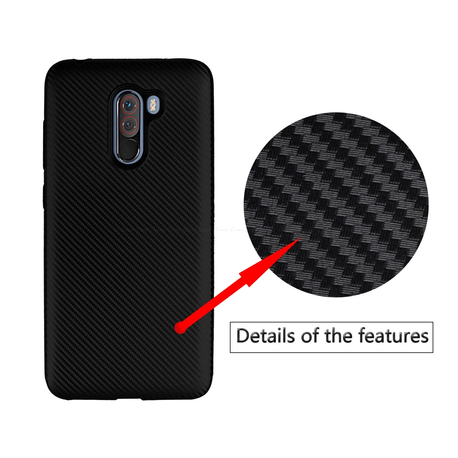 Carbon Fiber Texture Case For Xiaomi Mi Pocophone F1 8 A2 Lite A1 6X 5X 6 5 5S Plus Mix 2S Max 2 Soft Silicone Phone Back Cover