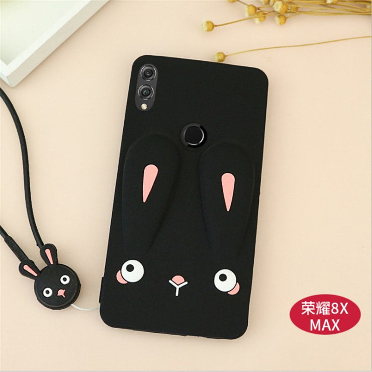 Cartoon Carney Rabbit Cute Silicone Soft TPU Silicon Phone Case For Huawei Honor 8x / 8x Max Back Cover For Huawei Honor 8x