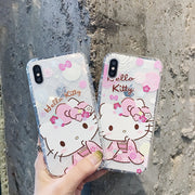 Cartoon Soft Silicone TPU Cover For IPhone 8 Case 6 6S 7 8 Plus For IPhone 7 Case Cute Hello Kitty New Style For IPhone X Case
