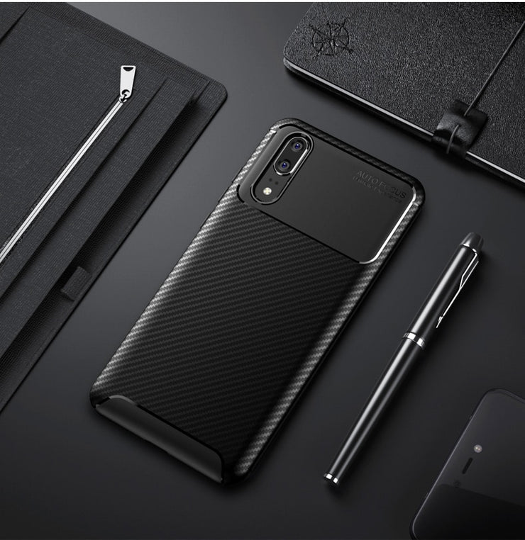 superior quality b93f1 ca81c Case For Funda Huawei P10 P20 Lite P30 Pro Case Armor Carbon Fiber Soft  Phone Cases For Coque Huawei P20 P30 Pro Case Cover