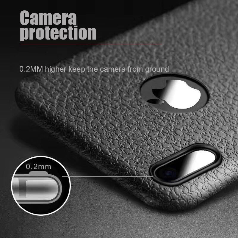 Case For IPhone 7 8 Plus X 10 Ultra Slim Soft TPU Texture PU Leather Full Protection Case For IPhone 6 6S Plus IX I8 Coque Cover