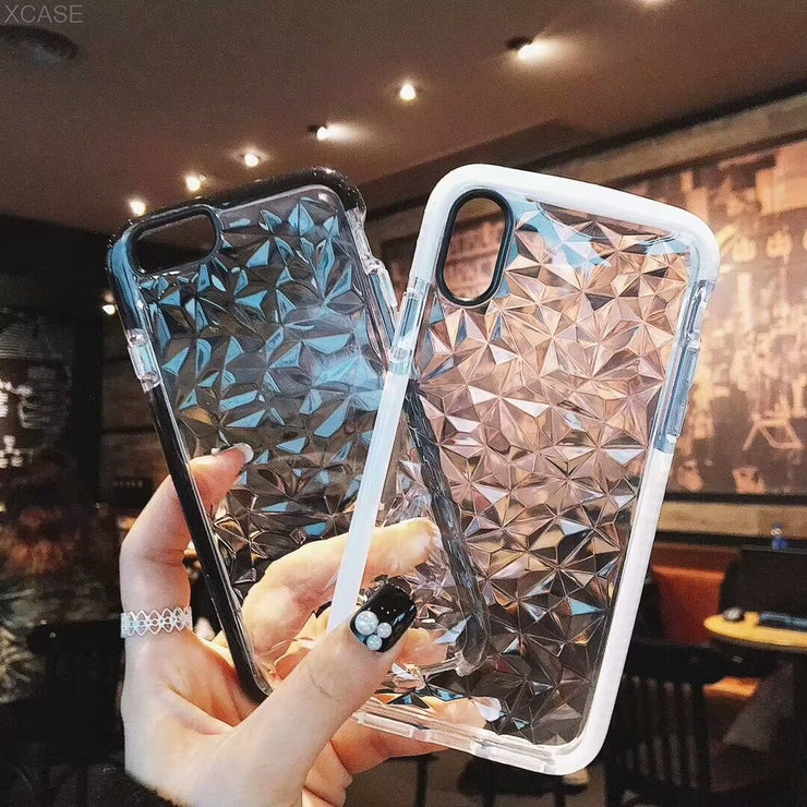 Case For IPhone X XS Max XR 6 6S 8 7 Plus Diamond Soft TPU All Inclusive Phone Cover Transparent Back Cases Coque Fundas