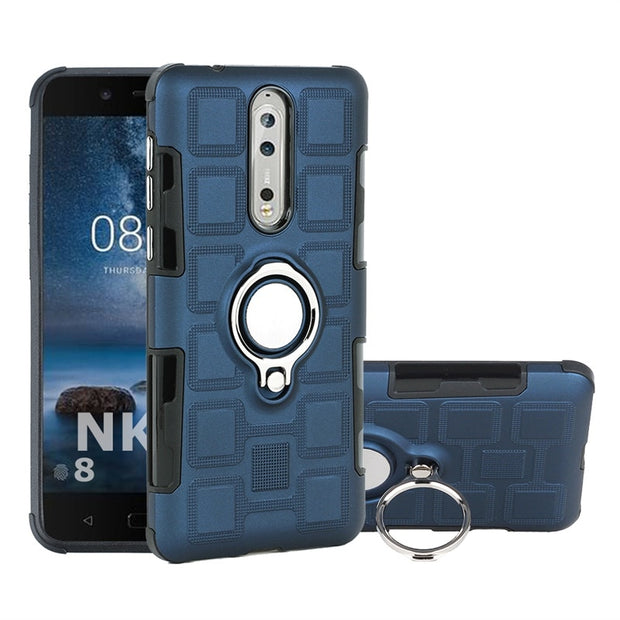 Cases For Nokia 2/Nokia 8 Case With Car Holder Luxurry Silicone Soft TPU+PC Back Cover Accessory On Nokia8/Nokia2 Fundas Coque