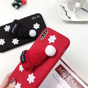 Christmas Hat Fluffy Santa Claus Case For IPhone 8 7 6S 6 Plus X XS Max XR Lovely Phone Case For IPhone 6 6S 7 8 Plus X 5S SE