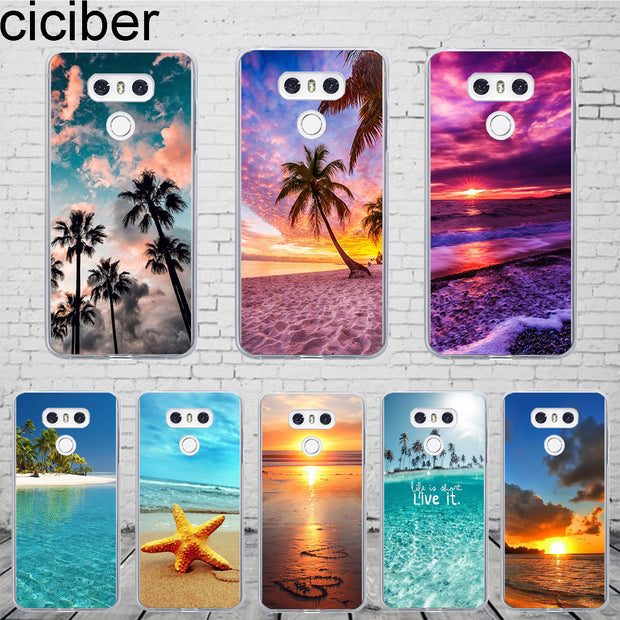 Ciciber Hawaiian Aloha For LG G7 G6 G5 G4 V40 V35 V30 V20 Phone Case ThinQ Silicone TPU For LG K8 K10 K4 2017 2018 K9 K11 Plus