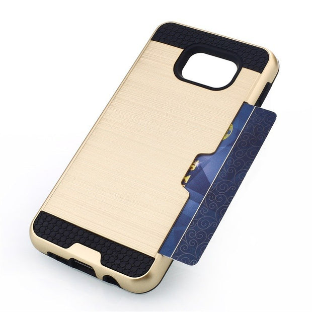 Coque Card Slots Case For Samsung Galaxy J120 A3 A5 A7 A8 A9 J3 J5 J7 2016 On5 On7 Grand Prime G530 Armor Cover Capa (<