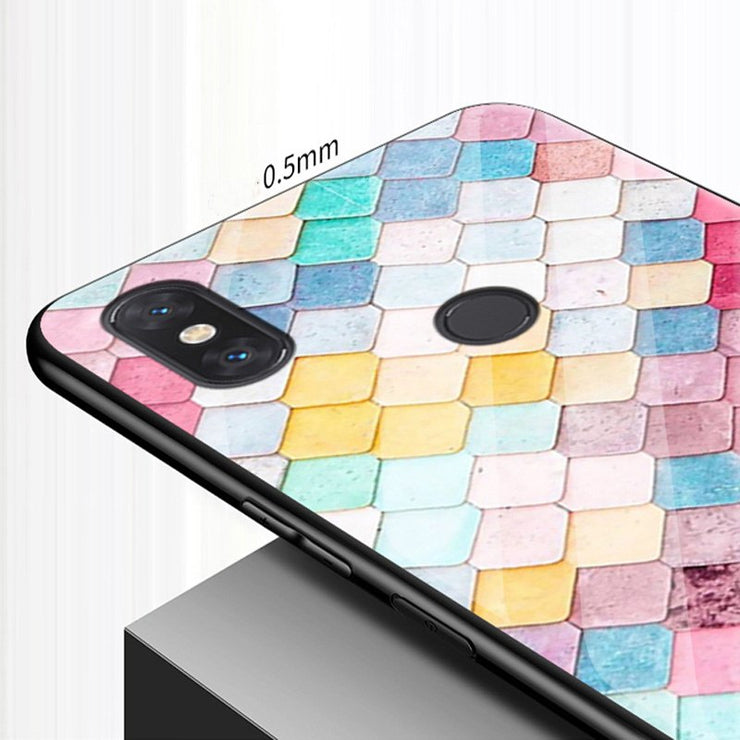 Coque For Xiaomi Mi Max3 Case Cute Tempered Glass + Soft Edge Cover 6.9'' For Xiaomi Mi Max 3 Glass Cases Mimax3 Cases Shell