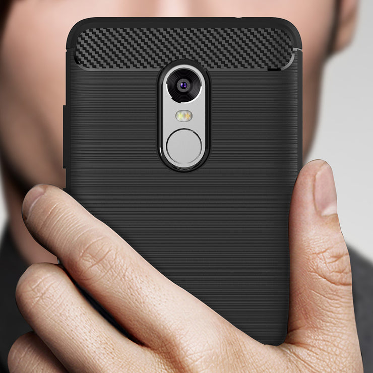 Cumhar Case For Redmi Note 4 Back Cover Carbon Fibre Brushed TPU Silicone Phone Cases For Xiaomi Redmi Note 4X Note4 Note4X 2017