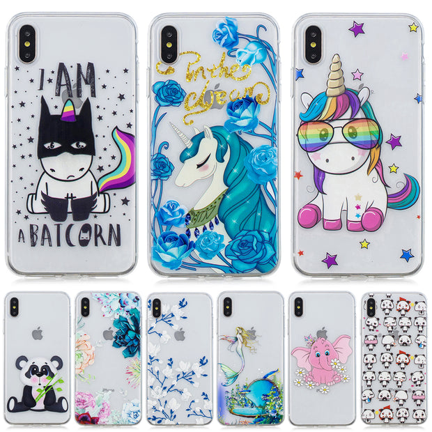 Cute Pattern Ultra Thin Soft TPU Shell Mobile Phone Case For Huawei Y6 Pro Y5 Y7 Prime Y9 2018 Nova 3 2i 3i P20 P9 Lite Mini Pro