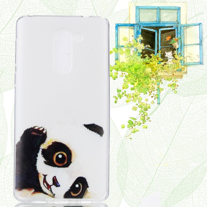 Cute Silicone Case SFor Huawei Honor 6X Case Thin Cartoon Design Soft Phone Bag For Huawei Honor 6X Cover Honor 6X Case Wolfsay