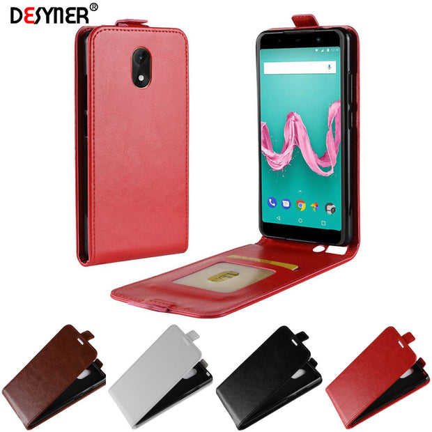 Desyner Luxury Vertical Flip Cover For Wiko Lenny 5 Phone Cases With Card Slot PU Leather Case For Wiko Lenny 5 Cover Coque
