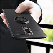 EACHTEK For Huawei Mate 9 Pro Case Car Holder Stand Magnetic Bracket Finger Ring TPU Case For Huawei Mate 9 Funda Coque Capa