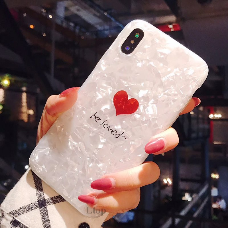 EVANKALX Fashion Loved Phone Case For Apple IPhone X 8 7 6s Plus Bling Soft Transparent TPU Crystal For IPhone6 Phone Case Cover