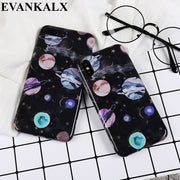 EVANKALX For Iphone 8 Plus Case Full Edge Soft TPU Silicone Phone Cases For Iphone 6 6S Plus Starry Sky Cover For IPhone 7 8 X