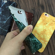 EVANKALX Marble Phone Cases For IPhone 7 8 X Full Edge Marble Stone Painted Cover For IPhone 6 6s 7 8 Plus Back Cover Capa