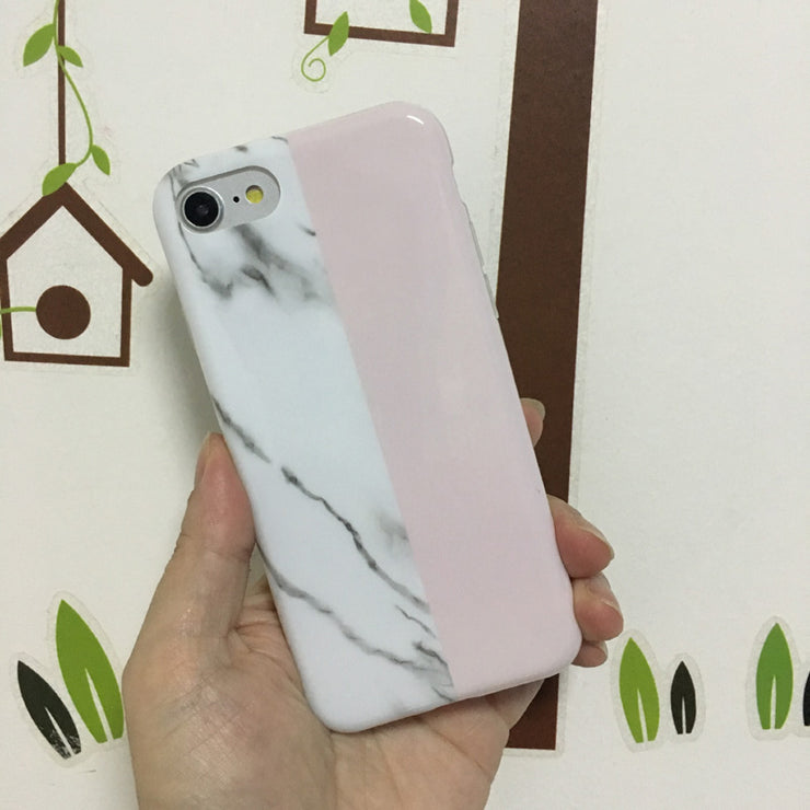 EVANKALX New Top IMD Phone Case For IPhone 7 Case Fashion Marble Couples Soft TPU Cover Cases For IPhone 7 Plus 8 X 6 6s Plus
