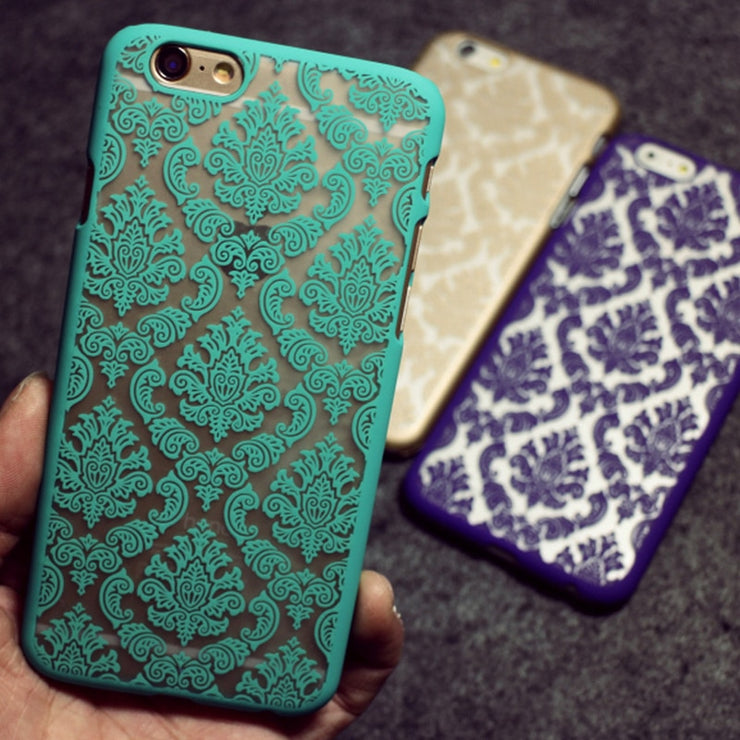 European Flowers Pattern Phone Cases For Apple IPhone 6 Case Ultra Thin Hard Back Cover For IPhone 6 Plus Bulk Wholesale
